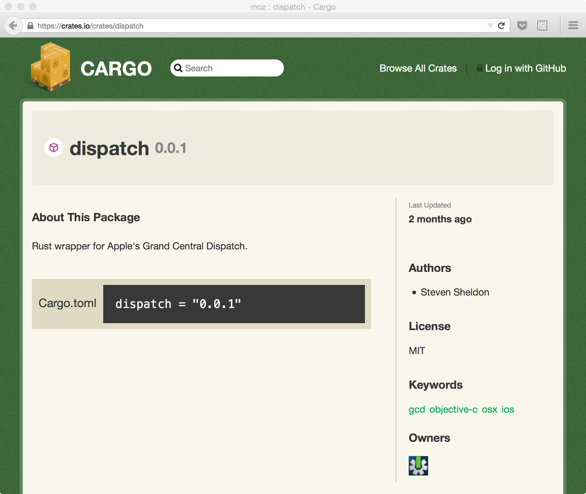 dispatch (from crates.io)